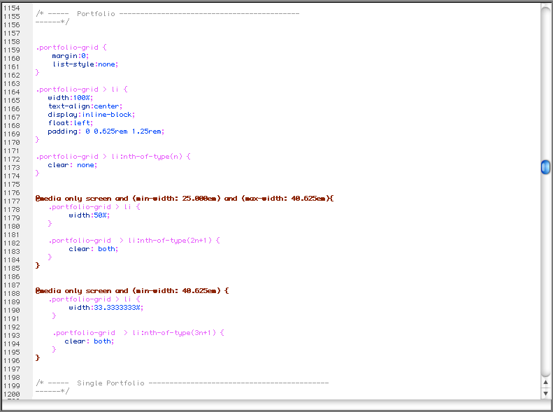 Clean CSS3 coding.