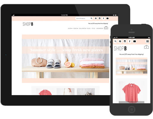 Shop B Responsive Website